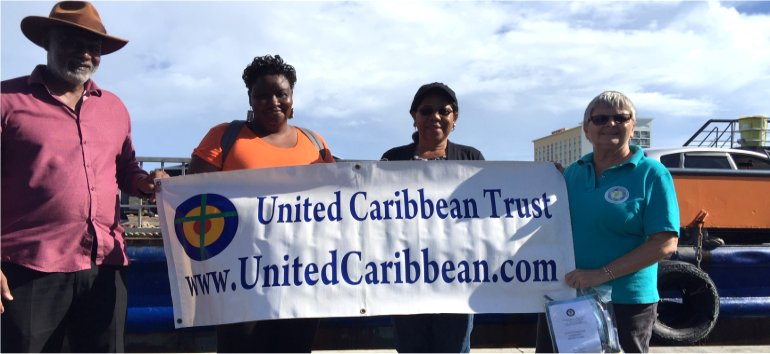 United Caribbean Trust distributing Sawyer PointOne Water Filtration Systems in Bahamas following hurricane Dorian
